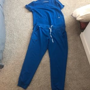 FIGS Royal Blue Scrub Set